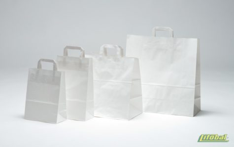 Ekologické papírové tašky s plochými uchy